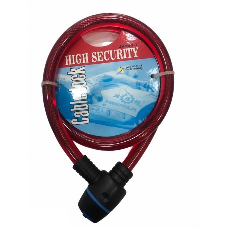 Kilit 15x1000mm Zhongli Anahtarlı Kırmızı