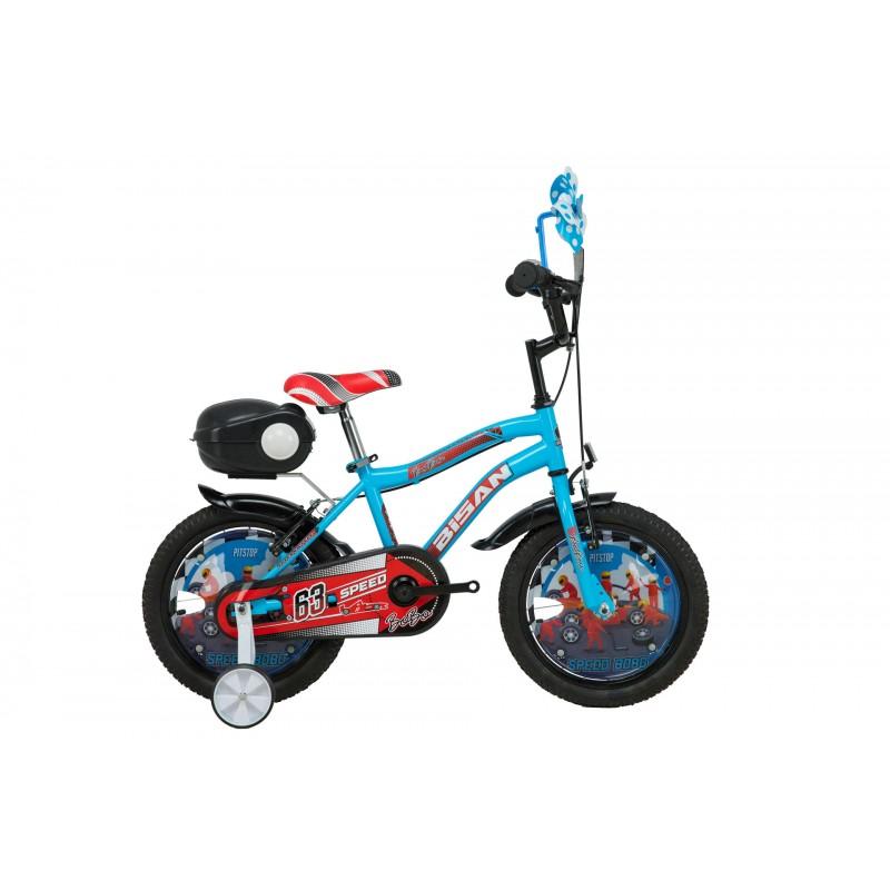 Bisan Bobo 16 Çocuk Bisikleti (Mavi Turuncu)