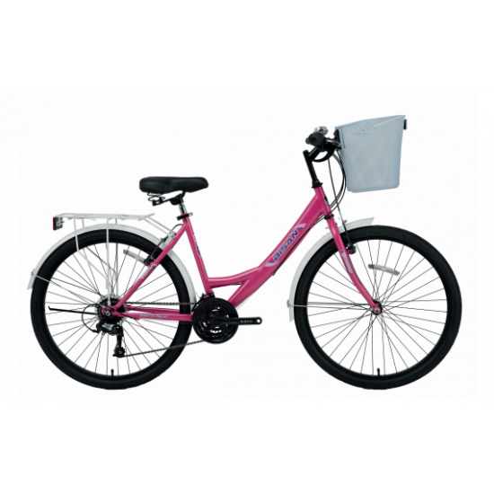 Bisan Cts 5100 Mabella Şehir Bisikleti 24 Jant (Pembe-Mor)