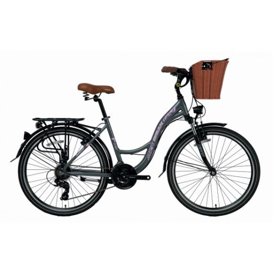 Bisan Ctx 6100 Şehir Bisikleti 26 Jant (Beyaz Lila)