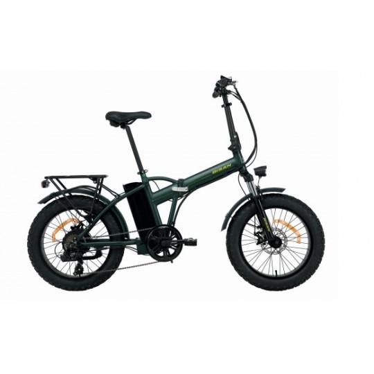 Bisan E-Folding F2 Elektrikli Katlanır Bisiklet (Yeşil-Sarı)