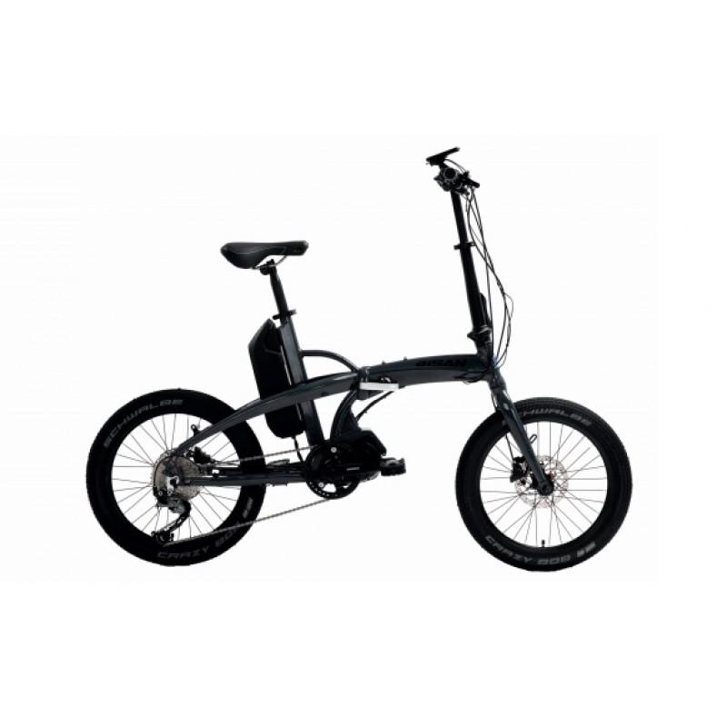 Bisan E-Folding Strike Elektrikli Katlanır Bisiklet (Gri-Siyah)
