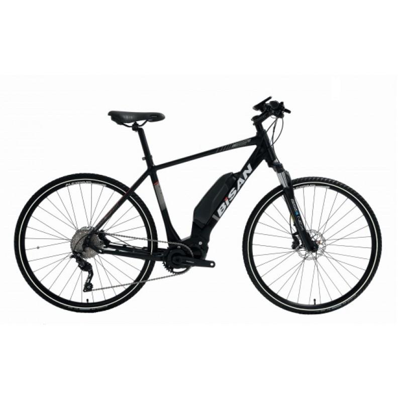 Bisan E-Trekking Elektrikli Bisiklet 28 Jant (Siyah-Kırmızı)