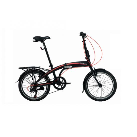 Bisan FX 3500 Trn Katlanır Bisiklet 20 Jant (Siyah-Kırmızı)