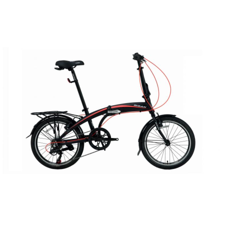 Bisan FX 3500 Trn Katlanır Bisiklet 20 Jant (Siya...