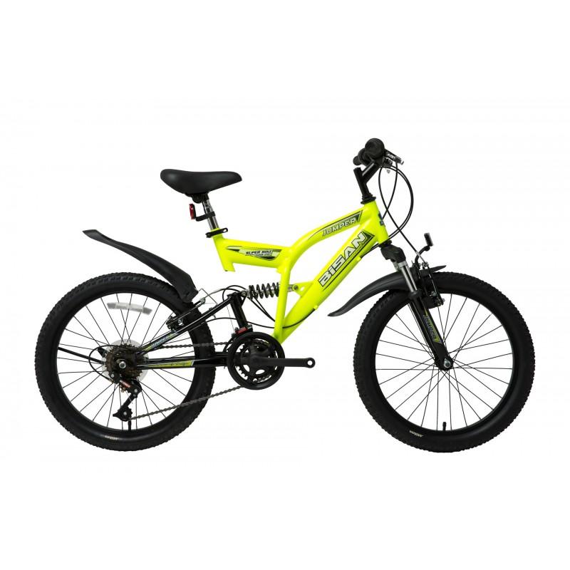 Bisan Jumper Çocuk Bisikleti 20 Jant (Neon Sarı-...