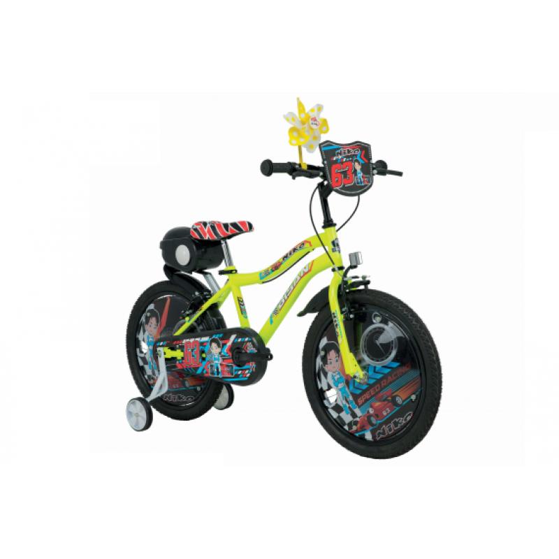 Bisan Niko 20 V Çocuk Bisikleti (Turuncu-Mavi)