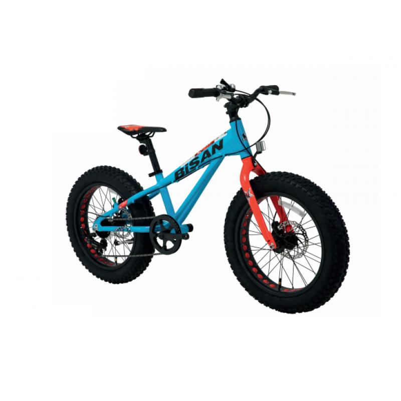 Bisan Limit 20 Çocuk Bisikleti Fat Bike (Mavi-Turuncu)