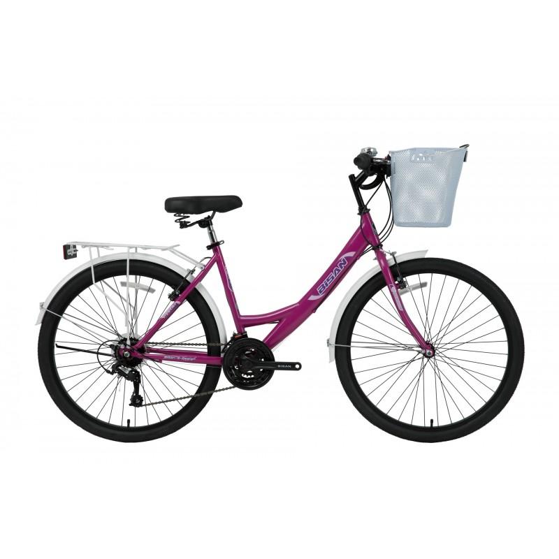 Bisan Mabella 26 V Şehir Bisikleti (Metalik Lila-...