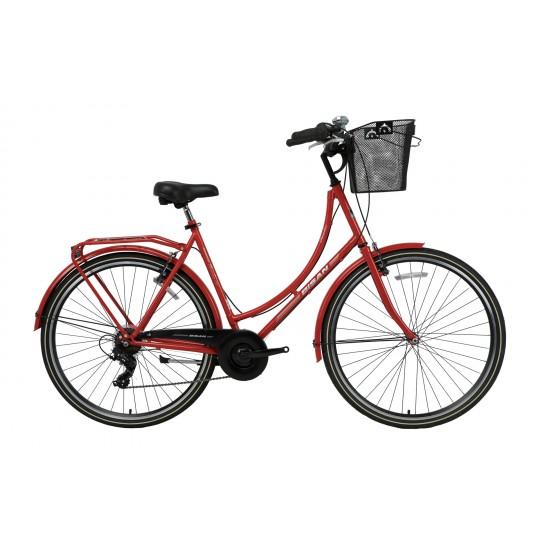 Bisan Paradise S 28 V Şehir Bisikleti (Kırmızı-Gri)
