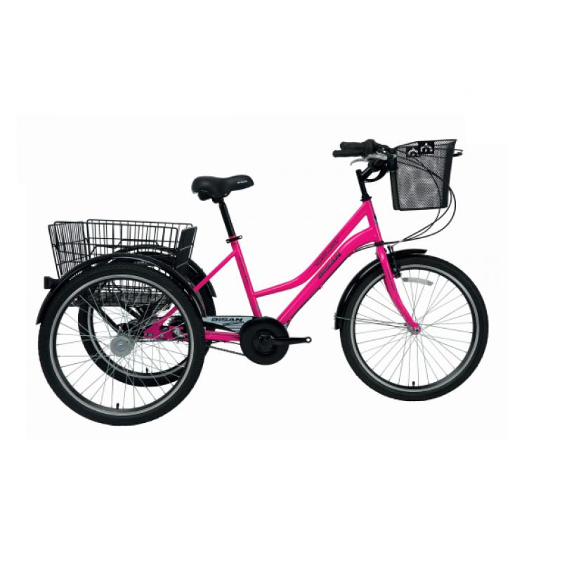 Bisan Porter 3 Tekerlekli Kargo Bisikleti (Mavi-Si...