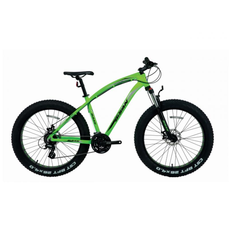 Bisan Savage Ft1 Fatbike Altus (Yeşil-Siyah)