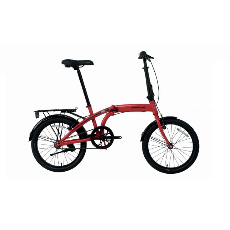 Bisan Twin Katlanır Bisiklet 20 Jant (Kırmızı-...