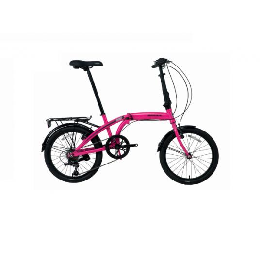 Bisan Twin-S Katlanır Bisiklet 20 Jant (Kırmızı-Siyah)