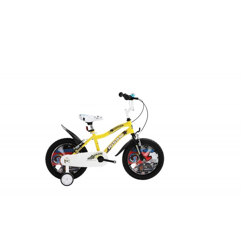Bisan Kds 2200 Çocuk Bisikleti 16 Jant (Sarı Siy...