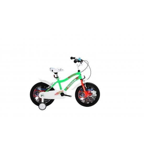 Bisan Kds 2200 Çocuk Bisikleti 16 Jant (Yeşil Turuncu)