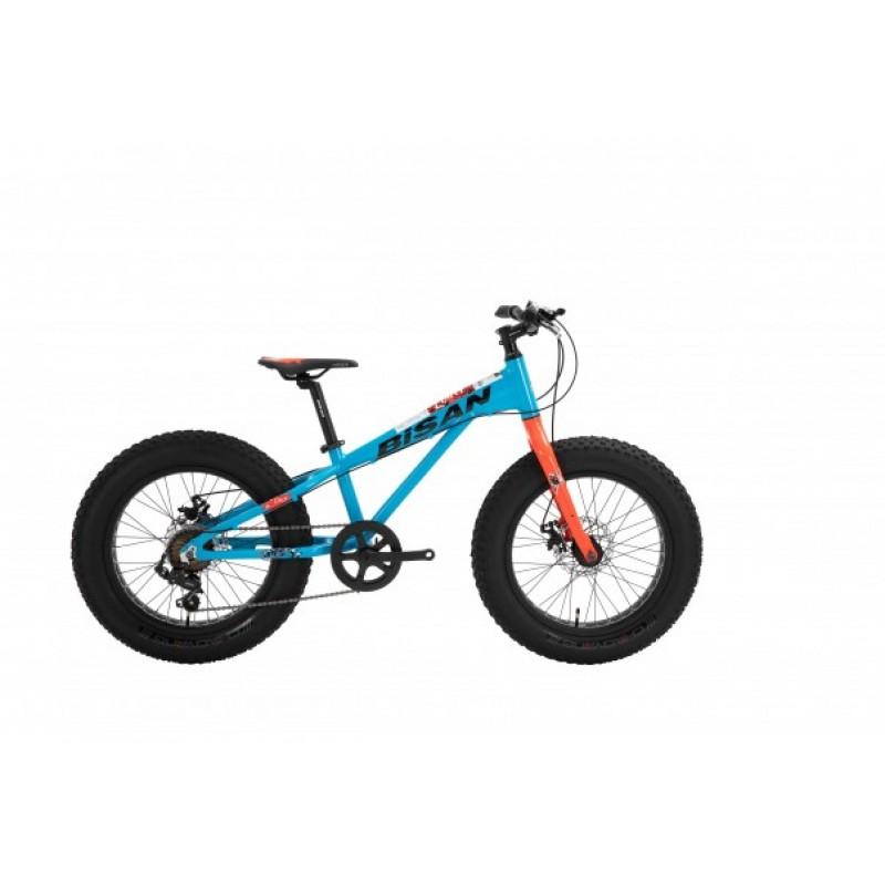 Bisan Limit 20 Çocuk Bisikleti Fat Bike (Mavi-Tur...