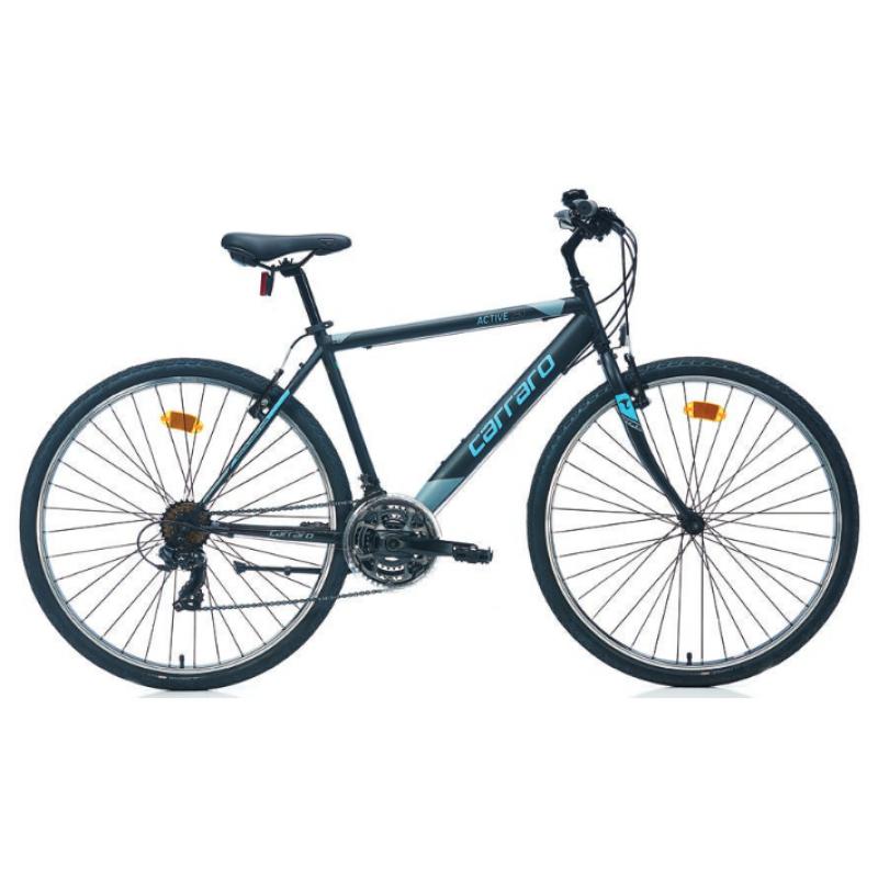 Carraro Active 280 28 V Şehir Bisikleti (Mat Siyah Koyu Gri Yeşil)