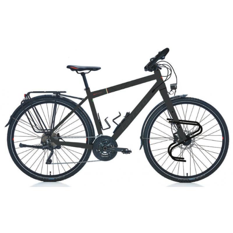 Carraro Cr-T World Tur Bisikleti 28 Jant  (Mat Koyu Gri-Siyah-Kırmızı)