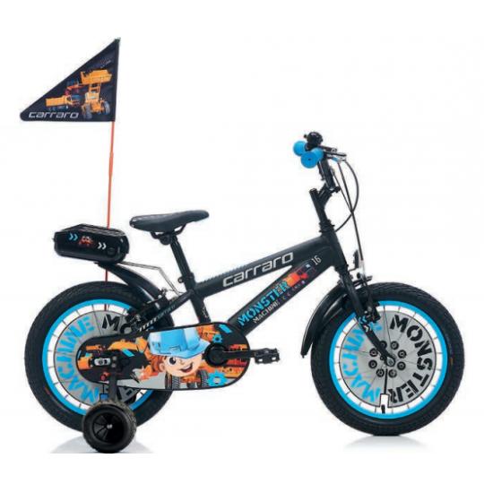 Carraro Monster 16 Çocuk Bisikleti 16 Jant (Kırmızı Siyah)