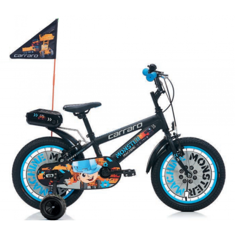 Carraro Monster 16 Çocuk Bisikleti 16 Jant (Kırm...