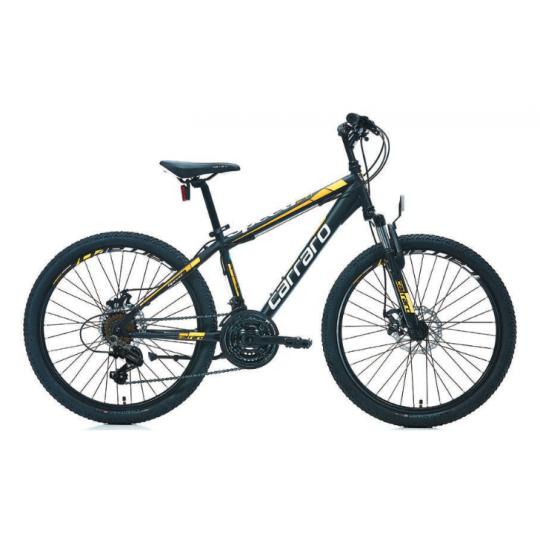 Carraro Speed 241 Md Dağ Bisikleti 24 Jant (Mat Siyah-Yeşil)