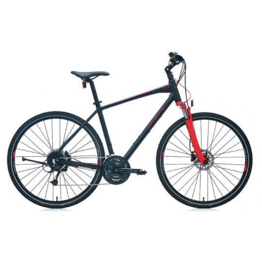 Carraro Sportive 227 28 Hd Şehir Bisikleti (Mat Siyah Mavi Gümüş)