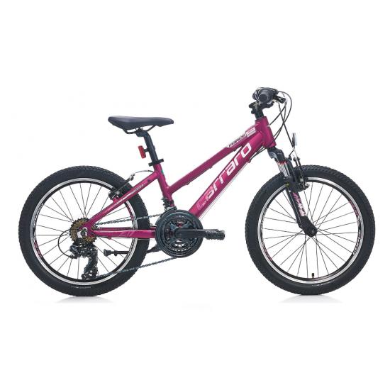 Carraro Force 201 Çocuk Bisikleti 20 Jant (Mat Mürdüm-Pembe)
