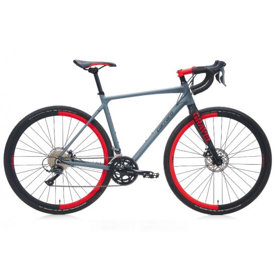 Carraro Gravel G0 Yol Bisiklet 28 Jant  (Mat Antrasit Siyah Kırmızı)