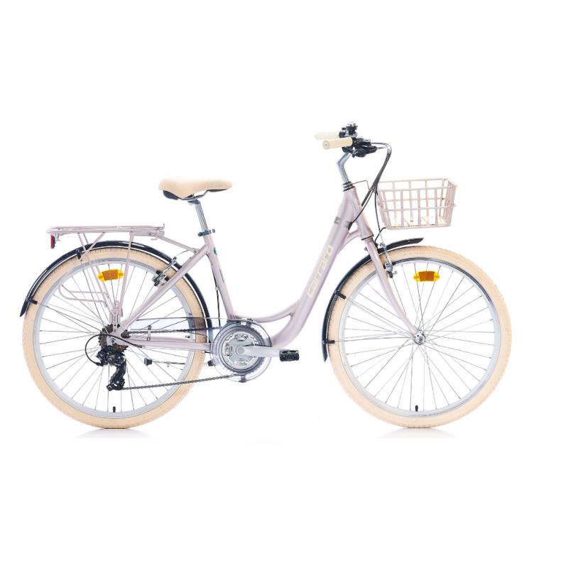 Carraro Juliet Şehir Bisikleti 26 Jant (Mat Metalik Pembe Krom Krem)