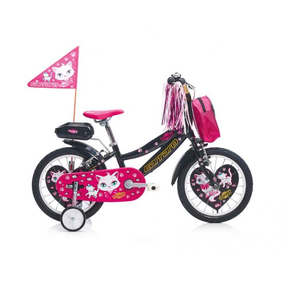 Carraro Moggy 16 Çocuk Bisikleti 16 Jant (Siyah-Altın-Pembe)