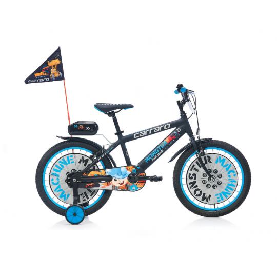 Carraro Monster 20 Çocuk Bisikleti 20 Jant (Mat-Siyah-Gri-Mavi))