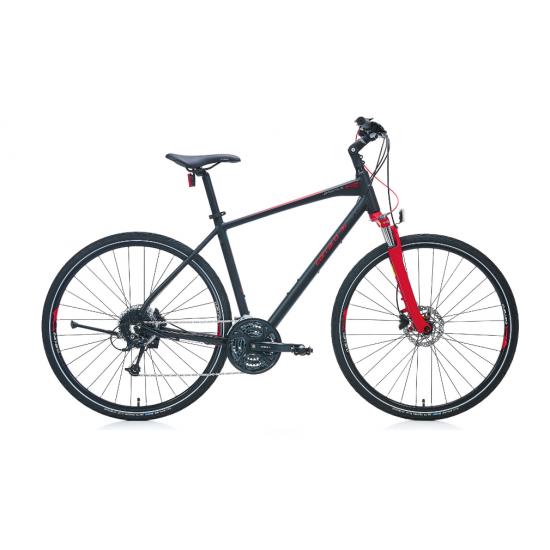 Carraro Sportive 227 Şehir Bisikleti 28 Jant Hd (Mat Siyah-Kırmızı-Gümüş)