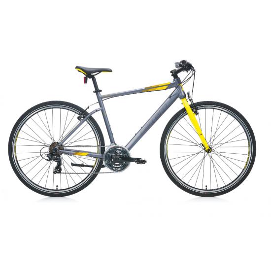 Carraro Sportive 321 Şehir Bisikleti 28 jant (Mat Gri-Kırmızı-Turuncu)