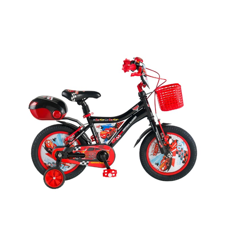 Kron Cars 16 V Çocuk Bisikleti (Siyah Kırmızı)