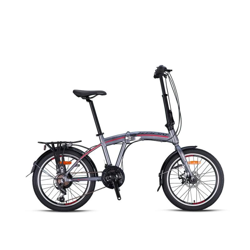 Kron Fd 2100 20 Md Katlanır Bisiklet (Füme Kırm...