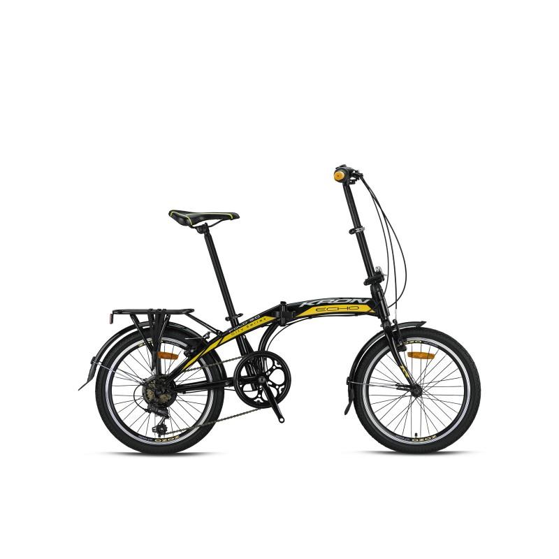 Kron Fold 3.0 Katlanır Bisiklet (Siyah Sarı Beya...