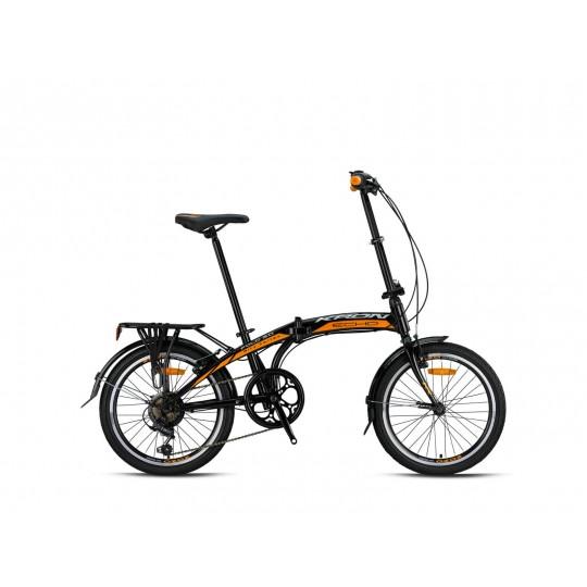 Kron Fold 3.0 Katlanır Bisiklet (Siyah Turuncu Beyaz)