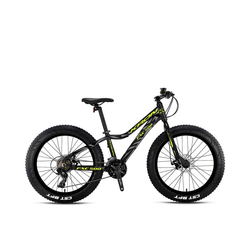Kron Fxc500 26 Md Fatbike (Mat Siyah Neon Sarı)