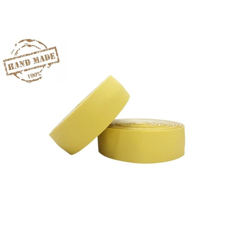 Gidon Bandı Deri Sarı Düz