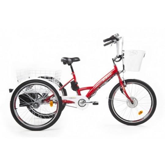 Bisan E-Bazaar Shimano Nexus 3 Elektrikli Kargo Bisikleti (Kırmızı)